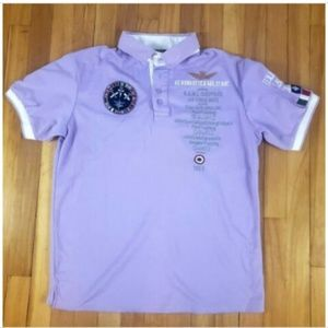 Aeronautica Militare Mens Polo Purple Shirt Sz XL